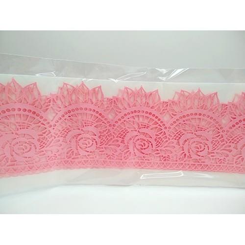 Кружево из гибкого айсинга розовое (45065)