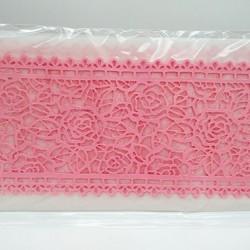 Кружево из гибкого айсинга розовое (45075)