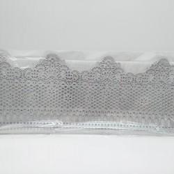 Кружево из гибкого айсинга серебряное (45083)