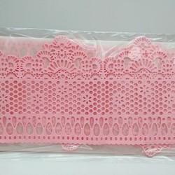 Кружево из гибкого айсинга розовое (45085)