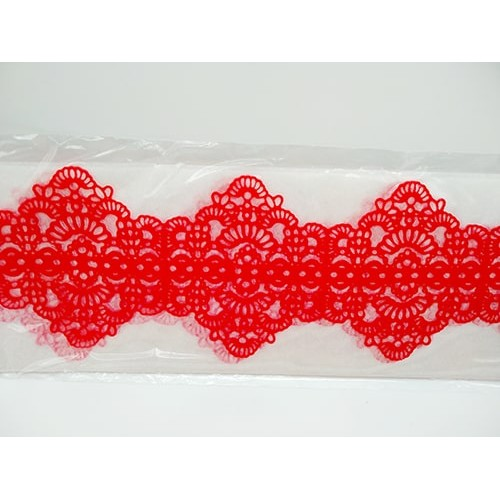 Кружево из гибкого айсинга красное (45132)