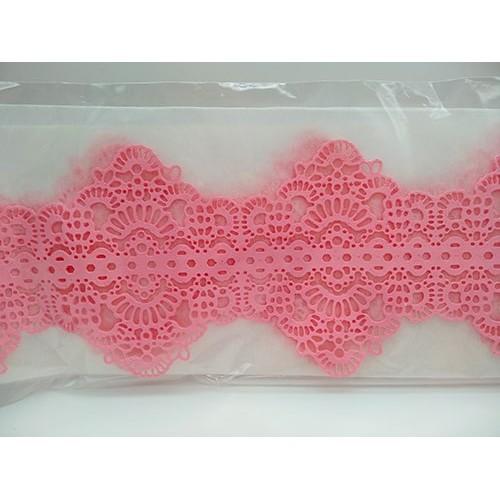 Кружево из гибкого айсинга розовое (45125)