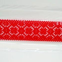 Кружево из гибкого айсинга красное (45212)