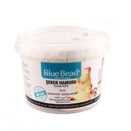 Сахарная мастика Blue Bead белая 1 кг