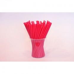 Палочки для кейк-попсов пластиковые красные, 50 шт