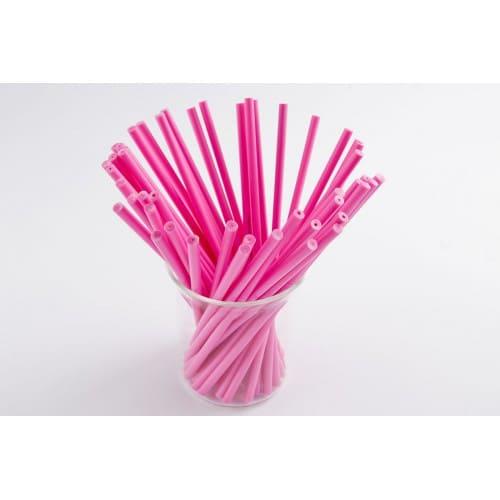 Палочки для кейк-попсов пластиковые розовые, 50 шт