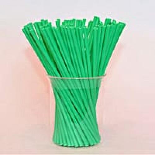 Палочки для кейк-попсов пластиковые зеленые, 50 шт