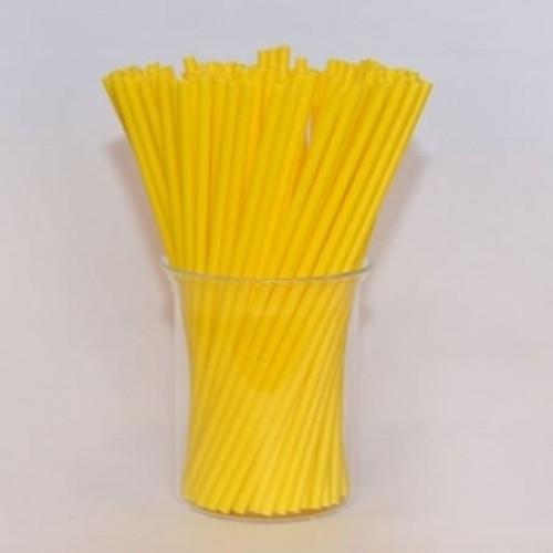 Палочки для кейк-попсов пластиковые желтые, 50 шт