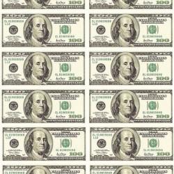 "Съедобная картинка ""Доллары 12 шт"""