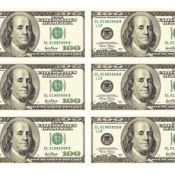 "Съедобная картинка ""Доллары 6 шт"""