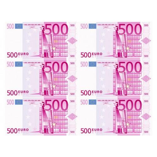 """Съедобная картинка """"500 Евро (6 шт)"""""""