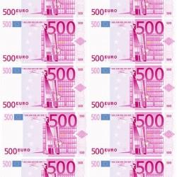 """Съедобная картинка """"500 евро, 10 шт"""""""
