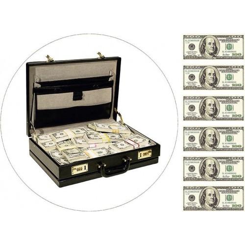 """Съедобная картинка """"Чемодан с деньгами"""""""
