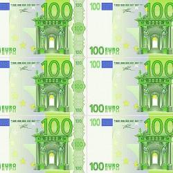 """Съедобная картинка """"Евро 100"""" (6 шт)"""