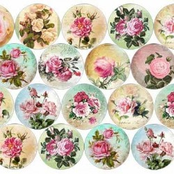 """Съедобная  картинка """"Винтажные розы"""" 1"""