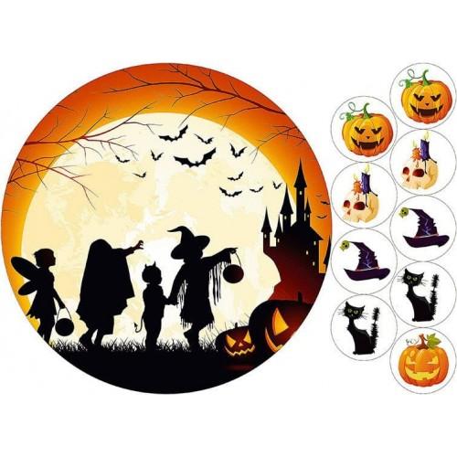 "Съедобная картинка ""Хеллоуин"" 1"