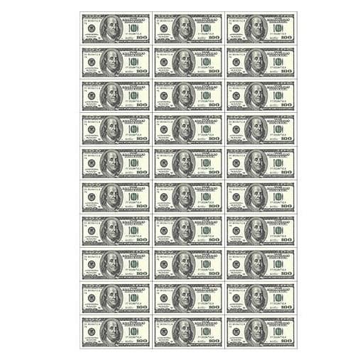 "Съедобная картинка ""Доллары 30 шт"""