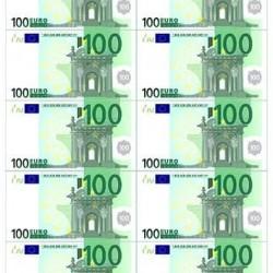 """Съедобная картинка """"Евро 100"""" (10 шт)"""