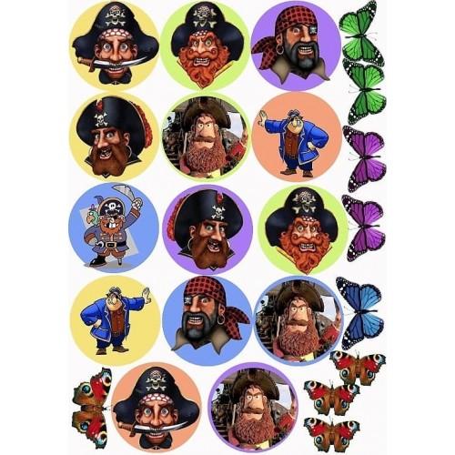 """Съедобная картинка """"Пираты"""""""