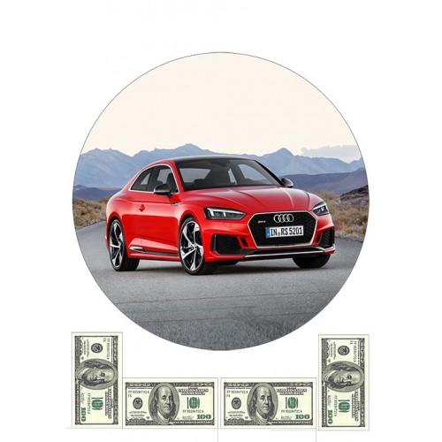 """Съедобная картинка """"Автомобиль Audi"""" 5"""