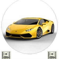 """Съедобная картинка """"Автомобиль Lamborghini"""""""