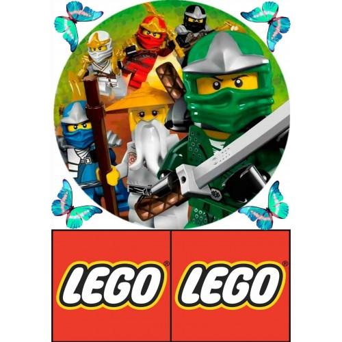 """Съедобная картинка """"Лего"""" 5"""