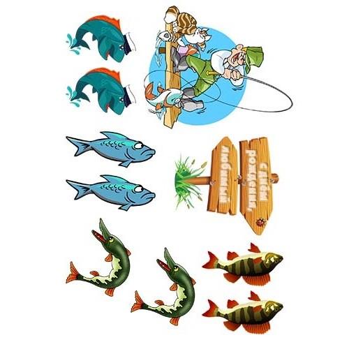 "Съедобная  картинка ""Рыбалка"" 2"