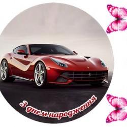 """Съедобная картинка """"Автомобиль Lamborghini"""" 2"""