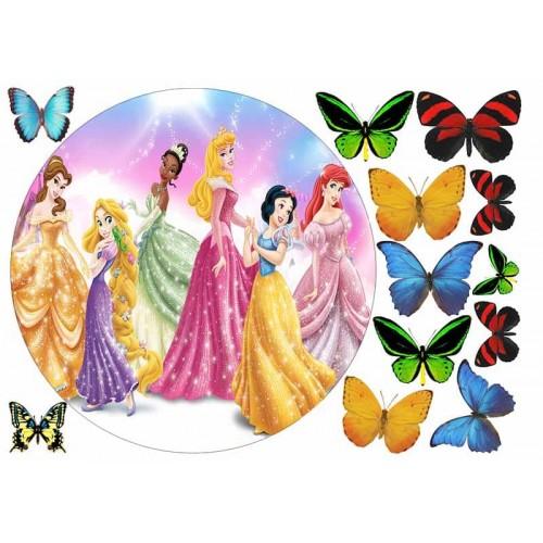 """Съедобная картинка """"Принцессы"""" 3"""