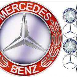 "Съедобная картинка ""Логотип Mercedes Benz"""