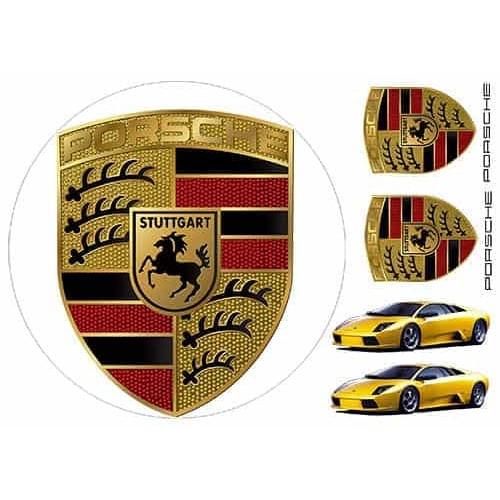 """Съедобная картинка """"Логотип Porsche"""""""
