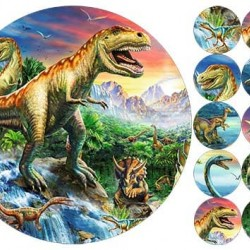 """Съедобная  картинка """"Динозавры"""" 2"""