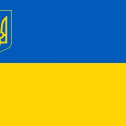 """Съедобная картинка """"Флаг и герб Украины"""""""