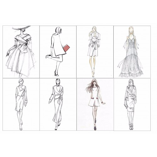 "Съедобная картинка ""Мода, графика"" 2"