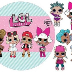 """Съедобная  картинка """"Куклы LOL"""" 1"""