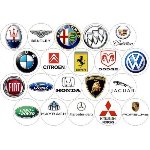 """Съедобная картинка """"Эмблемы автомобилей"""""""