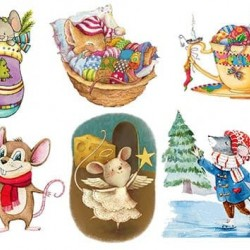 Съедобная  картинка Мышки №6