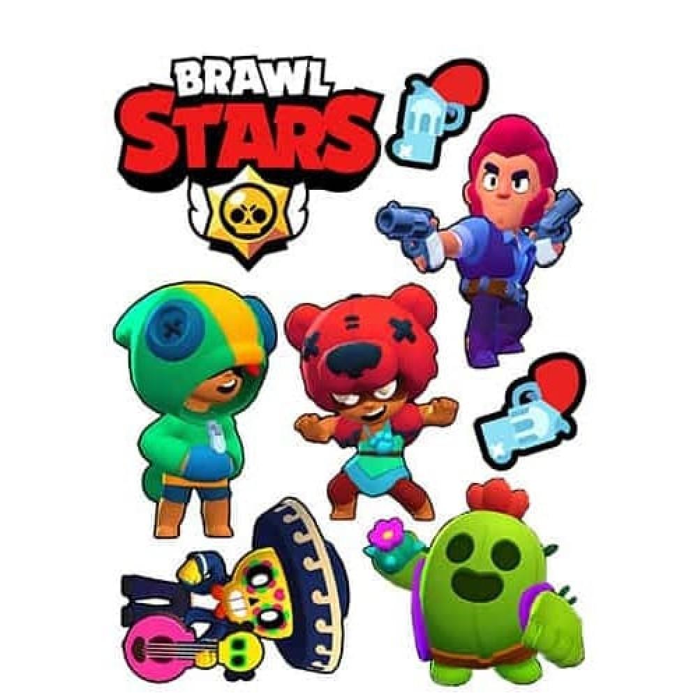 Вафельная  картинка  Brawl Stars (Бравл Старс)