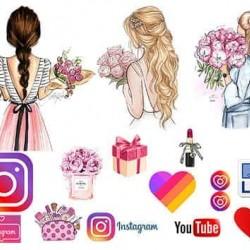 """Съедобная  картинка """"Для девушек, соцсети"""" 4"""