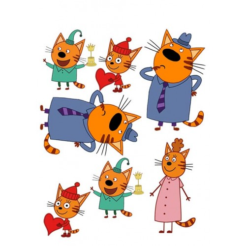 "Сахарная посыпка ""Три кота (топпер)"" 4"