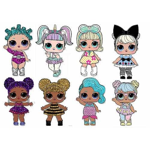 "Съедобная  картинка ""Куклы LOL (топпер)"" 7"