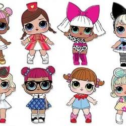 "Съедобная  картинка ""Куклы LOL (топпер)"" 8"