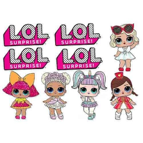 "Съедобная  картинка ""Куклы LOL (топпер)"" 9"