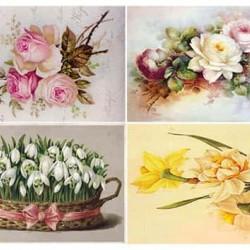 """Съедобная  картинка """"Винтажные цветы"""""""