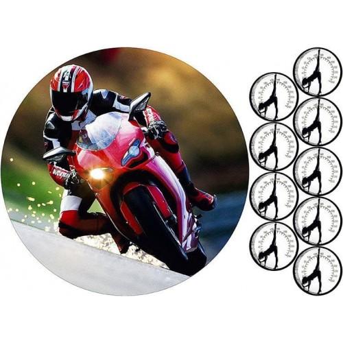 "Съедобная картинка ""Мотоцикл"" 2"
