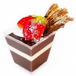 """Стаканчик для закусок и десертов """"Пирамида"""" 10 шт (200 мл)"""